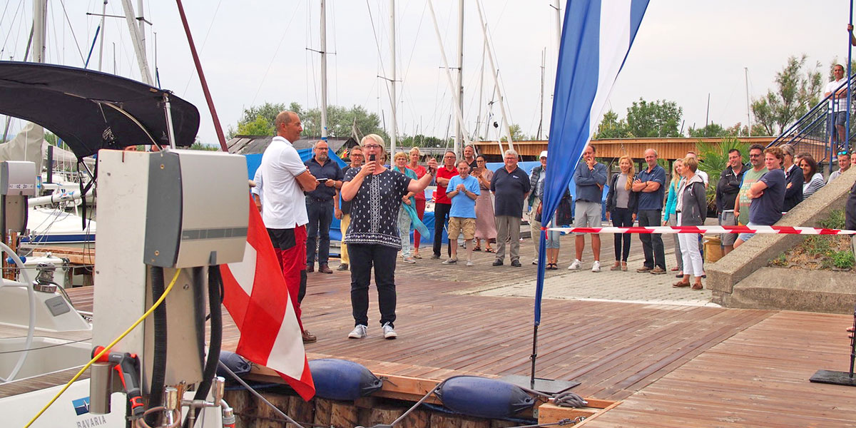 Opening of the new habour